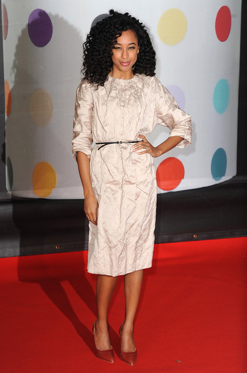 Description of . Corinne Bailey Rae attends the Brit Awards 2013 at the 02 Arena on February 20, 2013 in London, England.  (Photo by Eamonn McCormack/Getty Images)