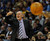 DENVER, CO. - MARCH 21: Denver coach George Karl came off the bench to shout instructions in the last minutes of the game. The Denver Nuggets defeated the Philadelphia 76ers 101-100 Thursday night, March 21, 2013 at the Pepsi Center. The Nuggets are on a 14-game record winning streak that is a team record. (Photo By Karl Gehring/The Denver Post)