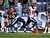 Robert Johnson #32 of the Tennessee Titans chases Lestar Jean #18 of the Houston Texans as he runs into the endzone for a touchdown at LP Field on December 2, 2012 in Nashville, Tennessee.  (Photo by Frederick Breedon/Getty Images)
