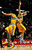 Denver Nuggets' JaVale McGee (L) and his teammate Kosta Koufos celebrate their win over the Chicago Bulls in their NBA basketball game in Chicago, Illinois, March 18, 2013.   REUTERS/Jim Young
