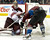 DENVER, CO. - FEBRUARY 11: Matt Duchene (9) of the Colorado Avalanche gets tangled up with Mike Smith (41) of the Phoenix Coyotes during the third period February 11, 2013 at Pepsi Center. The Phoenix Coyotes defeated the Colorado Avalanche 3-2 on a Shane Doan (19) shot to beat Semyon Varlamov with 1:00 min left in overtime. (Photo By John Leyba/The Denver Post)