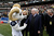 U.S. Senator John McCain of Arizona shakes hands with Bill the Goal, the Navy Midshipmen mascot, before the Kraft Fight Hunger Bowl between the Arizona State Sun Devils and the Navy Midshipmen at AT&T Park on December 29, 2012 in San Francisco, California.  (Photo by Ezra Shaw/Getty Images)