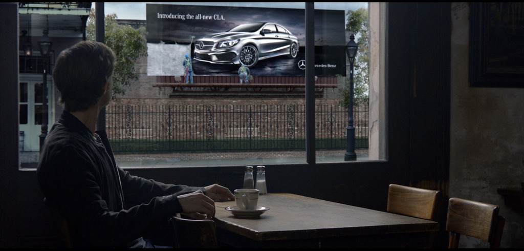 . This  screenshot provided by Mercedes Benz shows the Super Bowl advertisement for the company. The majority of the 30-plus Super Bowl advertisers have been releasing their ads in the days leading up to the game, advertising fans already can catch a glimpse of ìSpider-Manî actor Willem Dafoe in a Mercedes-Benz ad. (AP Photo/Mercedes Benz)