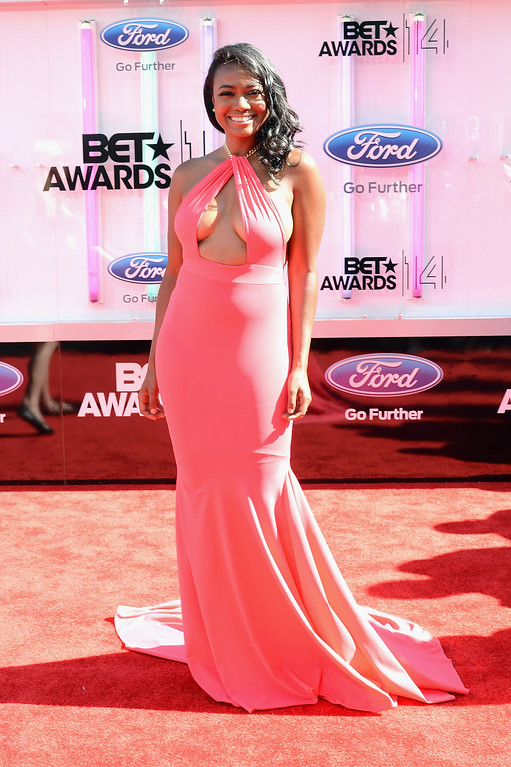 Description of . Actress Tatyana Ali attends the BET AWARDS '14 at Nokia Theatre L.A. LIVE on June 29, 2014 in Los Angeles, California.  (Photo by Earl Gibson III/Getty Images for BET)