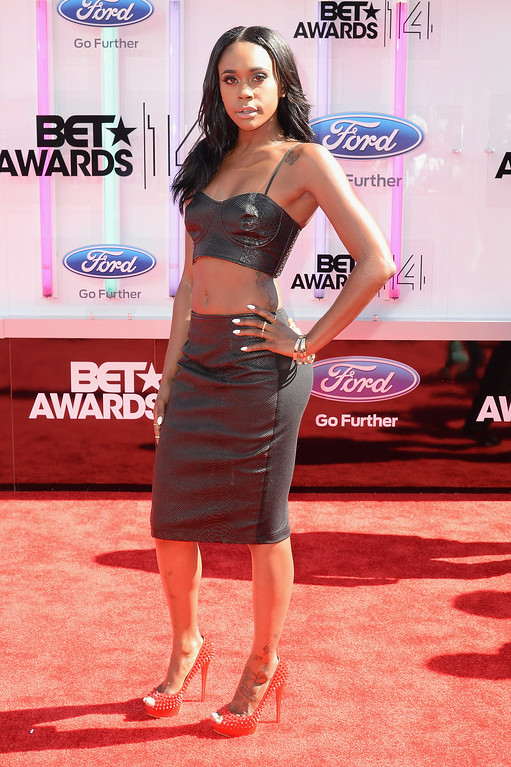 Description of . Actress Raquel Lee attends the BET AWARDS '14 at Nokia Theatre L.A. LIVE on June 29, 2014 in Los Angeles, California.  (Photo by Earl Gibson III/Getty Images for BET)