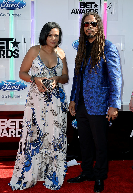Description of . DJ Beverly Bond (L) and musician Bazaar Royale attend the BET AWARDS '14 at Nokia Theatre L.A. LIVE on June 29, 2014 in Los Angeles, California.  (Photo by Earl Gibson III/Getty Images for BET)