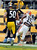 Cleveland Browns wide receiver Greg Little (15) makes a catch for a touchdown past Pittsburgh Steelers inside linebacker Larry Foote (50) in the third quarter of an NFL football game on Sunday, Dec. 30, 2012, in Pittsburgh. (AP Photo/Don Wright)