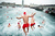Competitors jump into the sea during the 103rd Barcelona Traditional Christmas Swimming Cup at the Old Harbour of Barcelona on December 25, 2012 in Barcelona, Spain. The Copa Nadal is organized by the Barcelona Swimming Club and involves competitors swimming across some 200 meters of water in the harbor. Launched in 1908 the event has only been suspended three times when the Spanish Civil War interrupted proceedings between 1936 and 1938.  (Photo by David Ramos/Getty Images)