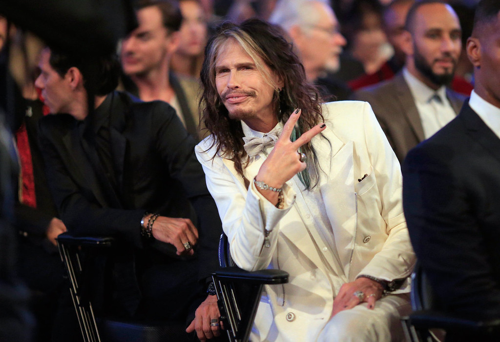 Description of . Musician Steven Tyler attends the 56th GRAMMY Awards at Staples Center on January 26, 2014 in Los Angeles, California.  (Photo by Christopher Polk/Getty Images)