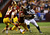 Doug Worthington #90 of the Washington Redskins tackles  Marshawn Lynch #24 of the Seattle Seahawks in the second half during the NFC Wild Card Playoff Game at FedExField on January 6, 2013 in Landover, Maryland.  (Photo by Al Bello/Getty Images)