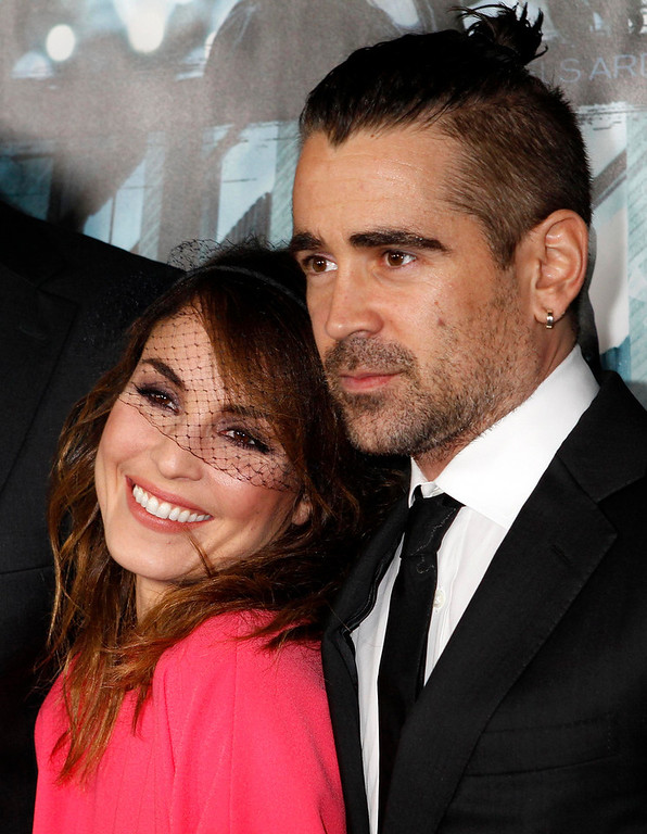 Description of . Swedish actress Noomi Rapace and Irish actor Colin Farrell pose at the premiere of their new film