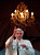 Pope Benedict XVI blesses the faithful for the last time from the balcony of his summer residence in Castel Gandolfo February 28, 2013. Pope Benedict slips quietly from the world stage on Thursday after a private last goodbye to his cardinals and a short flight to a country palace to enter the final phase of his life 