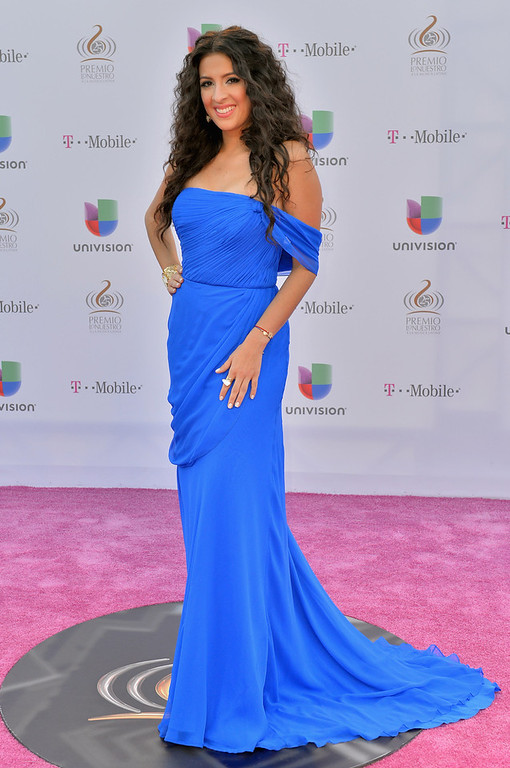 Description of . Maria Teresa Interiano arrives at the 25th Anniversary of Univision's