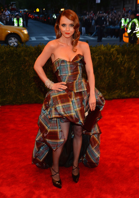 Description of . Actress Christina Ricci attends the Costume Institute Gala for the