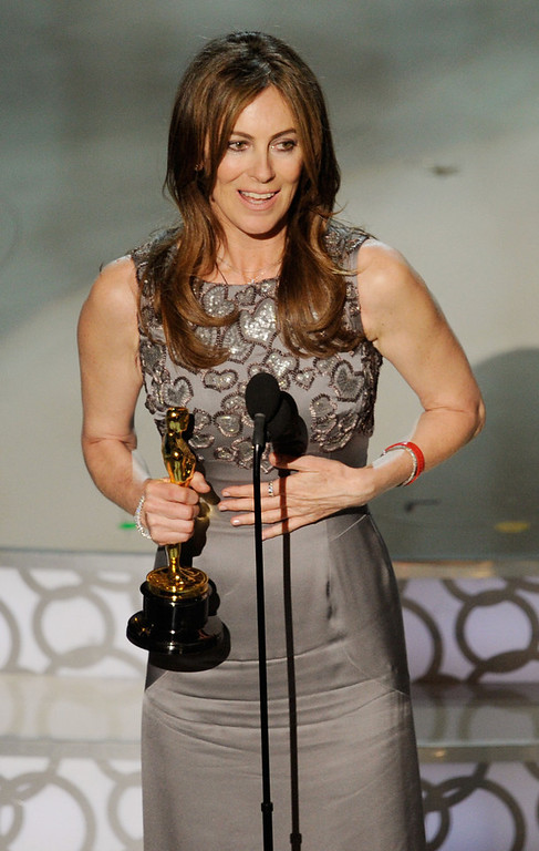 Description of . Director Kathryn Bigelow accepts Best Director award for