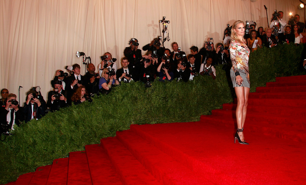 Description of . Model Karolina Kurkova arrives at the Metropolitan Museum of Art Costume Institute Benefit celebrating the opening of