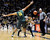 BOULDER, CO. - MARCH 7: Oregon forward Arsalan Kazemi (14) put a road block up in front of Colorado guard Askia Booker (0) in the second half. The University of Colorado men's basketball team defeated Oregon 76-53 Thursday night, March 7, 2013 at the CU Events Center in Boulder. (Photo By Karl Gehring/The Denver Post)