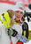 United States' MikaelaShiffrin celebrates winning the gold medal after the second run of the women's slalom at the Alpine skiing world championships in Schladming, Austria, Saturday, Feb. 16, 2013. (AP Photo/Kerstin Joensson)
