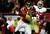 Cornerback Tarell Brown #25 of the San Francisco 49ers breaks up a pass to wide receiver Julio Jones #11 of the Atlanta Falcons in the second half in the NFC Championship game at the Georgia Dome on January 20, 2013 in Atlanta, Georgia.  (Photo by Kevin C. Cox/Getty Images)