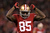 Tight end Vernon Davis #85 of the San Francisco 49ers celebrates after a catch in the third quarter against the Green Bay Packers during the NFC Divisional Playoff Game at Candlestick Park on January 12, 2013 in San Francisco, California.  (Photo by Stephen Dunn/Getty Images)
