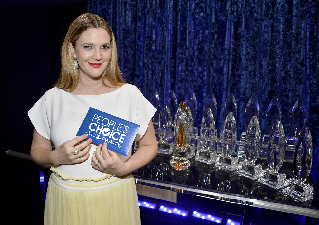 Description of . LOS ANGELES, CA - JANUARY 08:  Actress Drew Barrymore attends The 40th Annual People's Choice Awards at Nokia Theatre L.A. Live on January 8, 2014 in Los Angeles, California.  (Photo by Frazer Harrison/Getty Images for The People's Choice Awards)
