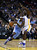 OAKLAND, CA - NOVEMBER 29: Ty Lawson #3 of the Denver Nuggets drives on Draymond Green #23 of the Golden State Warriors at Oracle Arena on November 29, 2012 in Oakland, California.  (Photo by Ezra Shaw/Getty Images)
