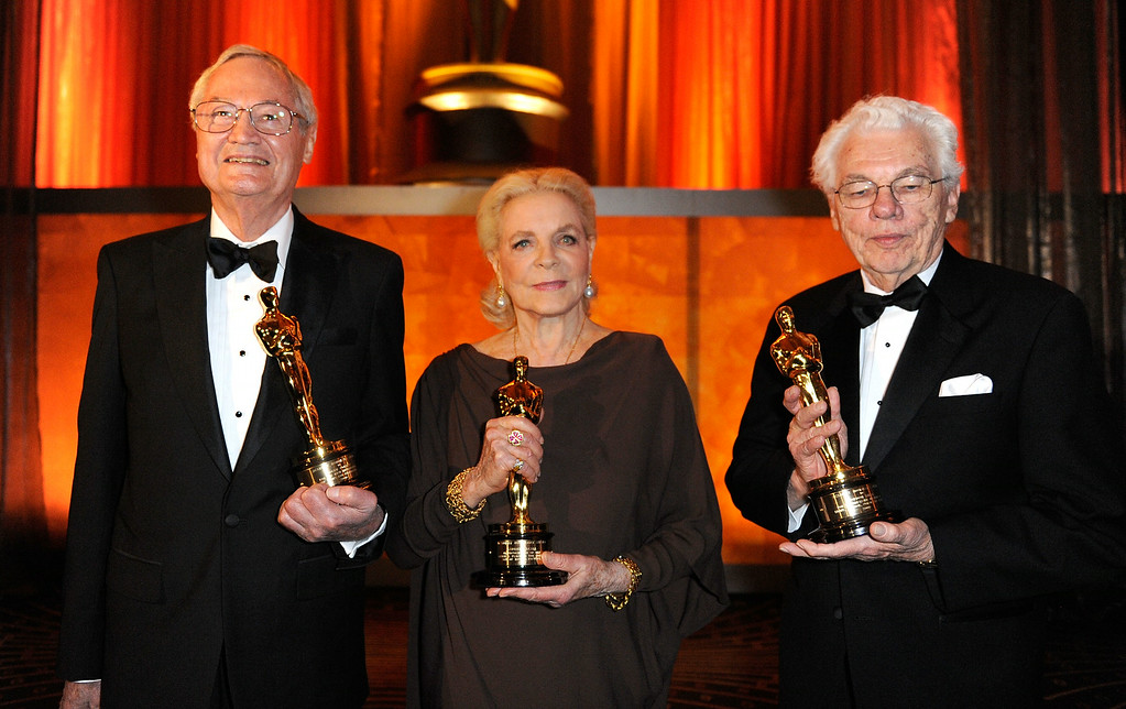 . FILE - AUGUST 12: Actress Lauren Bacall has died of a stroke. She was 89 years old. LOS ANGELES, CA - NOVEMBER 14:  Director Roger Corman, Actress Lauren Bacall and Gordon Willis attend the Academy of Motion Picture Arts and Sciences\' Inaugural Governors Awards held at the Grand Ballroom at Hollywood & Highland Center on November 14, 2009 in Los Angeles, California.  (Photo by Kevork Djansezian/Getty Images)