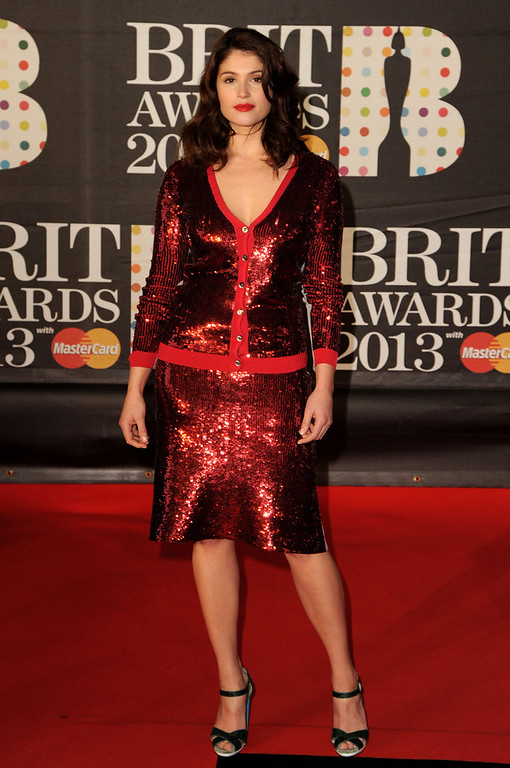 Description of . Gemma Arterton attends the Brit Awards 2013 at the 02 Arena on February 20, 2013 in London, England.  (Photo by Eamonn McCormack/Getty Images)