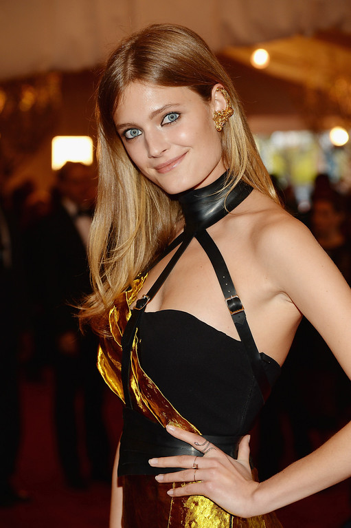 Description of . Constance Jablonski attends the Costume Institute Gala for the