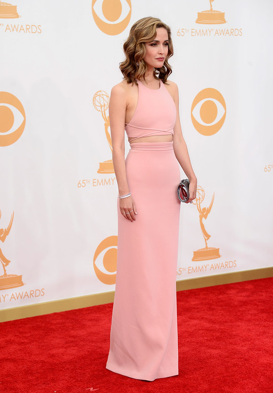 Description of . Actress Rose Byrne arrives at the 65th Annual Primetime Emmy Awards held at Nokia Theatre L.A. Live on September 22, 2013 in Los Angeles, California.  (Photo by Frazer Harrison/Getty Images)