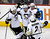 Pittsburgh Penguins Pascal Dupuis (9), Tyler Kennedy (48), Paul Martin (7) and Matt Niskanen (2) celebrate a goal against the Philadelphia Flyers during the first period of their NHL ice hockey game in Philadelphia, Pennsylvania January 19, 2013. REUTERS/Tim Shaffer