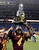 Central Michigan defensive back Jahleel Addae (4) holds the trophy after their 24-21 win over Western Kentucky in the Little Caesars Pizza Bowl NCAA college football game at Ford Field in Detroit, Wednesday, Dec. 26, 2012. (AP Photo/Carlos Osorio)