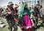In this March 28, 2012 file photo, Afghan security forces escort Taliban militants clad in Afghan women dresses to be presented to the media at the Afghan intelligence department in Mehterlam, Laghman province, east of Kabul, Afghanistan.  Afghan Intelligence forces arrested seven Taliban militants in Qarghayi district of Laghman province. (AP Photo/Rahmat Gul, File)