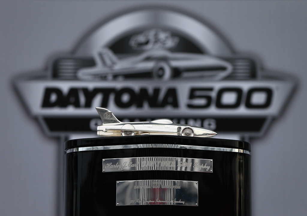 . DAYTONA BEACH, FL - FEBRUARY 20:  A view the Harley J. Earl Trophy during practice for the NASCAR Sprint Cup Series Daytona 500 at Daytona International Speedway on February 20, 2013 in Daytona Beach, Florida.  (Photo by Jonathan Ferrey/Getty Images)