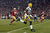 Cornerback Sam Shields #37 of the Green Bay Packers runs the ball back for touchdown after an interception against quarterback Colin Kaepernick #7 of the San Francisco 49ers in the first quarter during the NFC Divisional Playoff Game at Candlestick Park on January 12, 2013 in San Francisco, California.  (Photo by Harry How/Getty Images)