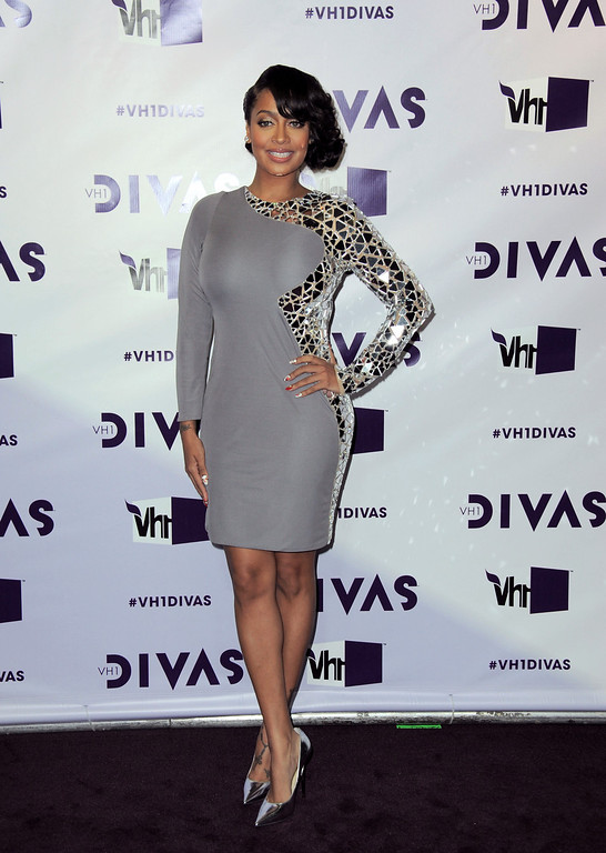 Description of . La La Anthony arrives at VH1 Divas on Sunday, Dec. 16, 2012, at the Shrine Auditorium in Los Angeles. (Photo by Jordan Strauss/Invision/AP)