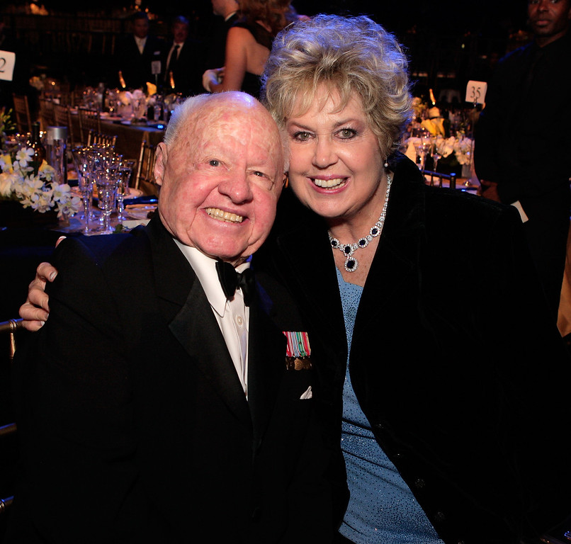 Description of . LOS ANGELES - JANUARY 27:Actor Mickey Rooney and wife Jan  at the cocktail party during the 14th annual Screen Actors Guild awards held at the Shrine Auditorium on January 27, 2008 in Los Angeles, California.  (Photo by Kevin Winter/Getty Images)