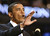 U.S. Senatorial candidate Barack Obama, a state senator from Illinois, delivers the keynote address at the Democratic National Convention Tuesday, July 27, 2004 at the FleetCenter in Boston. (AP Photo/Stephan Savoia)