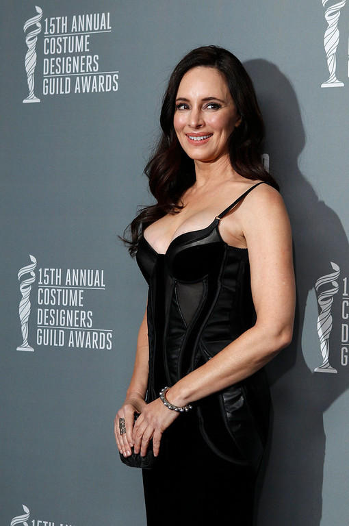 Description of . Actress Madeleine Stowe arrives at the 15th Annual Costume Designers Guild Awards in Beverly Hills February 19, 2013. REUTERS/Fred Prouser