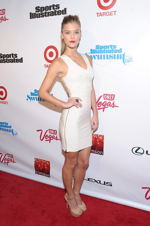 Description of . NEW YORK, NY - FEBRUARY 12: Model Nina Agdal attends as Sports Illustrated celebrates SI Swimsuit 2013 with a star-studded red carpet kickoff event at Crimson on February 12, 2013 in New York City.  (Photo by Michael Loccisano/Getty Images for Sports Illustrated)