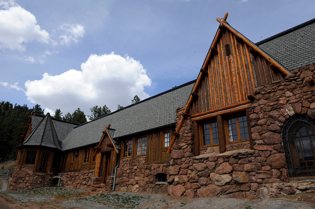 Description of . PINE, CO - APRIL 18: The exterior of Baehrden Lodge on April 18, 2014, in Pine, Colorado. The lodge was built in 1927 to serve as a summer home for William A. Baehr -- a Chicago utilities magnate -- and his family. In 1986, Jefferson County Open Space acquired the property and slowly been renovating it ever since. Visitors can tour the property on Sundays, starting in June. (Photo by Anya Semenoff/The Denver Post)