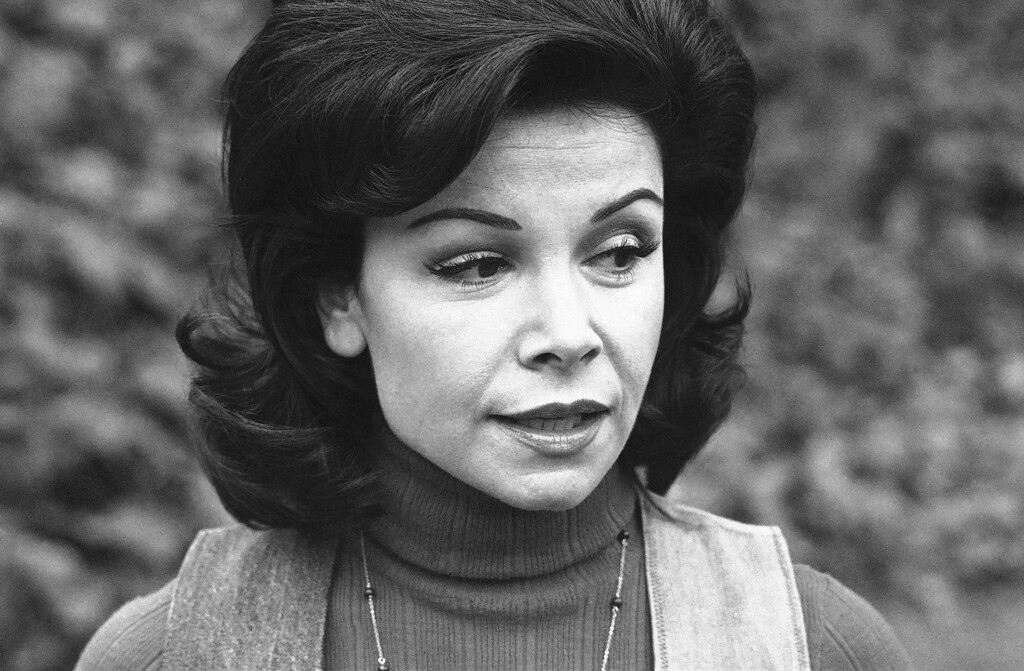 Description of . Former actress Annette Funicello is shown, Jan. 30, 1978. (AP Photo/George Brich)