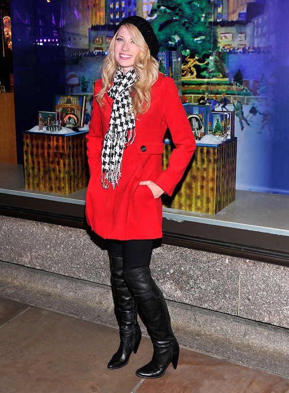 . Singer/songwriter Brooke White attends the 80th Annual Rockefeller Center Christmas Tree Lighting Ceremony on November 28, 2012 in New York City.  (Photo by Stephen Lovekin/Getty Images)
