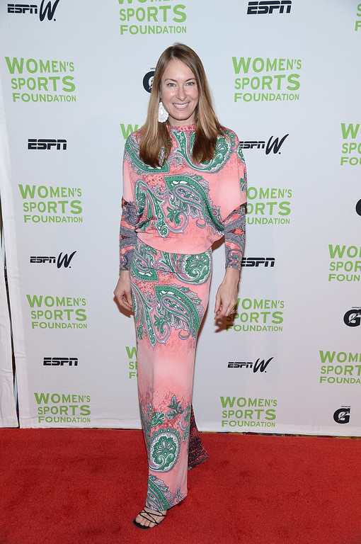 Description of . NEW YORK, NY - OCTOBER 16:  Skiier Kristen Ulmer attends the 34th annual Salute to Women In Sports Awards at Cipriani, Wall Street on October 16, 2013 in New York City.  (Photo by Michael Loccisano/Getty Images for the Women's Sports Foundation)