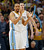 Denver Nuggets guard Andre Miller, front, joins forward Danilo Gallinari, of Italy, in celebrating as time runs out in the fourth quarter of the Nuggets' 87-80 victory over the Memphis Grizzlies in an NBA basketball game in Denver on Friday, March 15, 2013. (AP Photo/David Zalubowski)