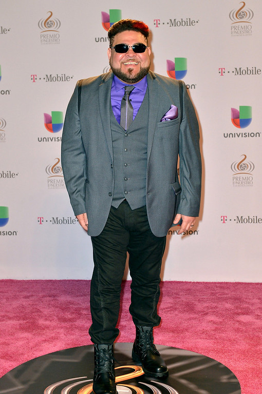 Description of . Angel Lopez arrives at the 25th Anniversary of Univision's