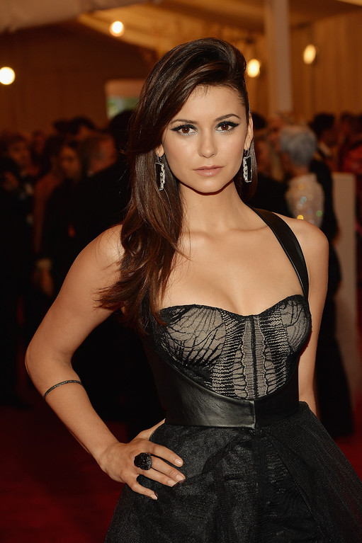 Description of . Nina Dobrev attends the Costume Institute Gala for the