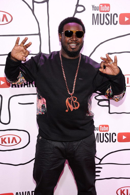 Description of . Rapper T-Pain attends the YouTube Music Awards 2013 on November 3, 2013 in New York City.  (Photo by Dimitrios Kambouris/Getty Images)
