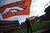 The Denver Broncos flag is seen on the field prior to the Denver Broncos vs Baltimore Ravens AFC Divisional playoff game at Sports Authority Field Saturday January 12, 2013. (Photo by Hyoung Chang,/The Denver Post)