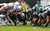 The Jacksonville Jaguars and the New England Patriots line up during a game  at EverBank Field on December 23, 2012 in Jacksonville, Florida.  (Photo by Mike Ehrmann/Getty Images)